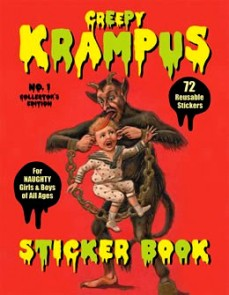 $10 Creepy Krampus Sticker Book from Loved to Death
