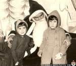 1971 Black and White Creepy Santa by Heather via CreepySantaPhotos