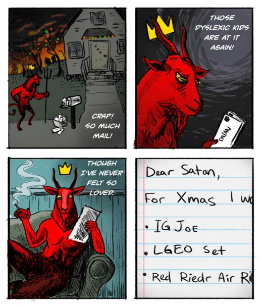 Another Web Comic - Letters to Satan