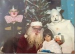 Creepy Santa with Easter Bunny via thechobble