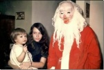 Creepy Vintage Santa via thechobble