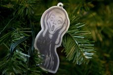 Edward Munch's The Scream ornament in Washington DC photographed by Jacquelyn Martin AP via NPR