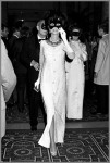 Gloria Guinness arriving at Truman Capote's Black and White Ball 1966