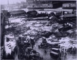 Panorama of the 1919 Molasses Disaster site by Globe Newspaper Co. via Boston Public Library and Wikipedia
