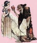 Poison Apple, Gustaf Tenggren Book illustration; watercolor and ink on paper, Concept Art for Snow White and the Seven Dwarfs