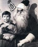 Scary Vintage Santa via vintageholiday