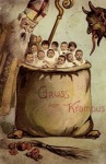 Vintage Krampus Holiday Card