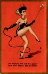 Sexy Vintage Krampus Holiday Card