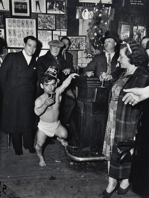 Vintage Photograph New Year's Eve, 1943, New York City Via