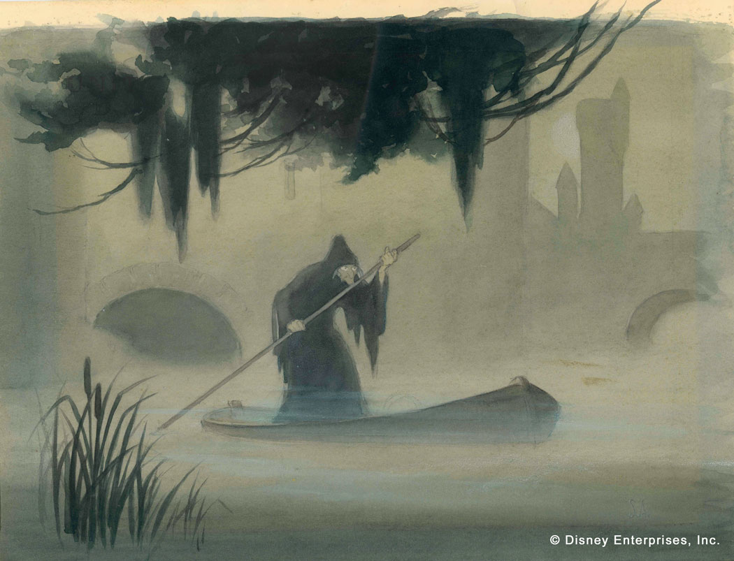Fabulous Witch in Rowboat, Samuel Armstrong Concept art for Snow White and  AU19