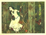 Circa 1910  illustration by Franz Jüttner for Schneewittchen (Snow White)