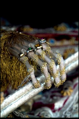Detail of Jeweled Martyr from Heavenly Bodies by Dr. Paul Koudounaris