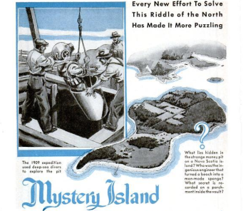 Oak Island featured in 1930's Popular Science