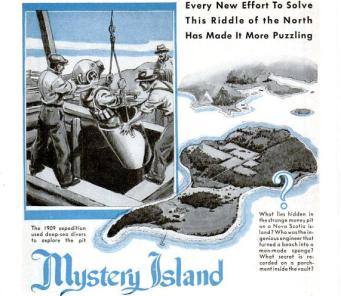 Oak Island featured in 1930's Popular Science