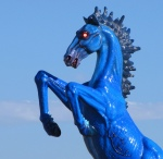 Blue Mustang of DIA via Reddit