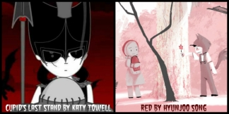 Cupid's Last Stand by Katy Towell and Red by Hyunjoo Song