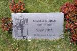 Headstone of Maila Nurmi at Hollywood Forever photographed by Kafzielg, 2010