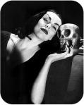 Vampira with Skull