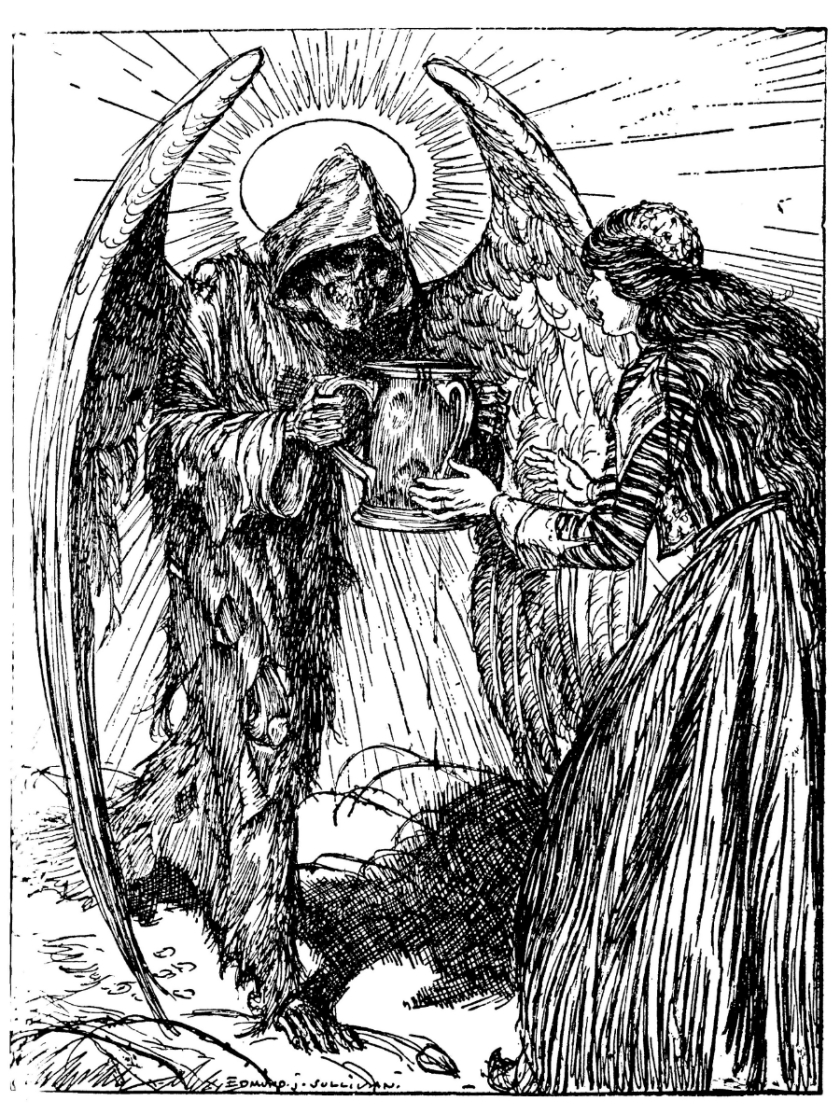 Edmund J. Sullivan illustration to the Rubaiyat of Omar Khayyam, First Version (translated by Edward Fitzgerald) 1913