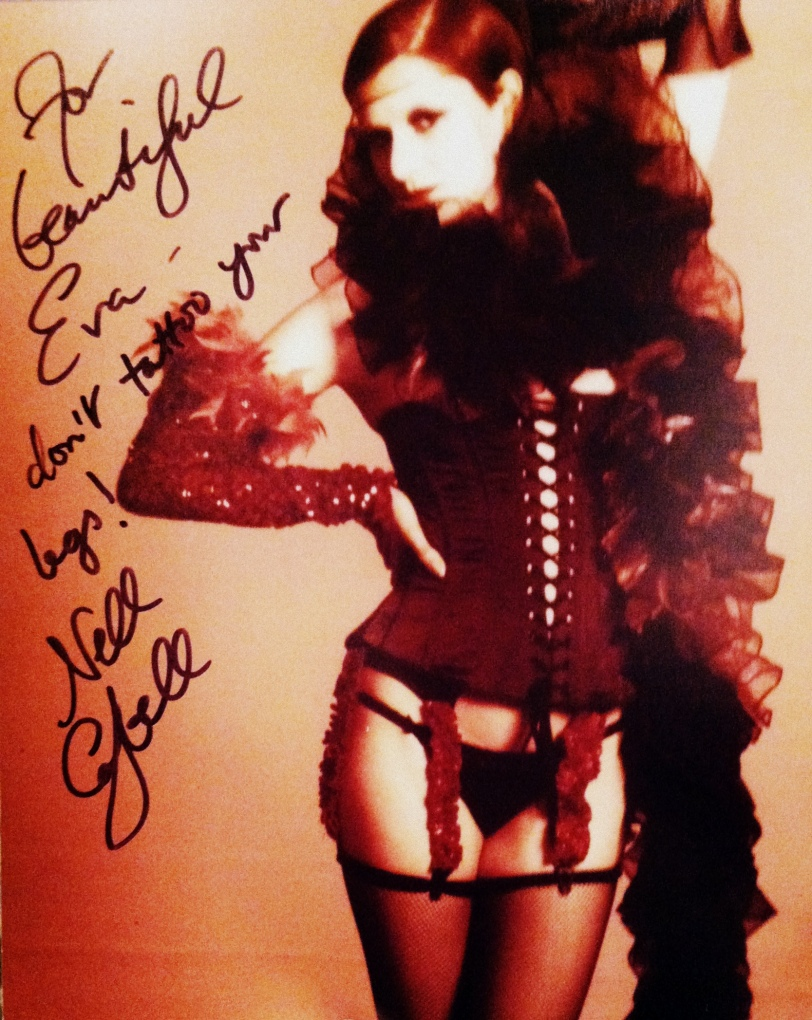 Little Nell Signed Photo - Mad Monster Party 2014