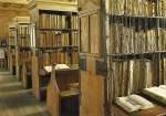 Chained Library in Hereford, England via Medieval Fragments