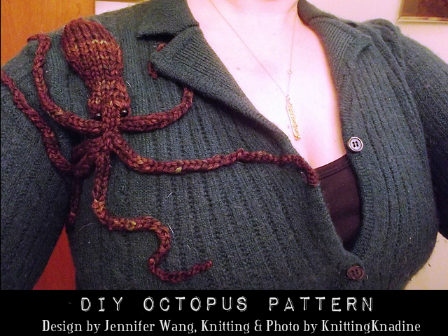 Demi Octopus pattern by Jennifer Wang Knitted by KnittingKnadine