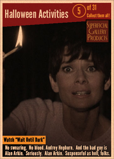 Halloween Activity Card 5 - Watch Wait Until Dark