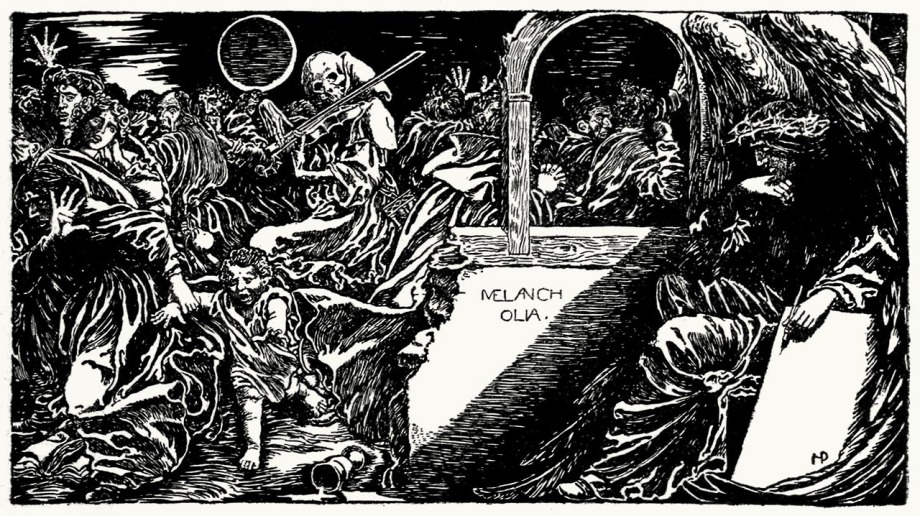 Howard Pyle, from Stops of various quills, by William Dean Howells, New York, 1895.