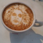 Beetlejuice Horror Latte Art by Michael Breach via Riot Daily