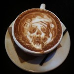 Creepy Latte Art by Barista Ben at West Egg Cafe, Atlanta via hellohayleyhello