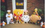cute dogs in fast food costumes for Halloween
