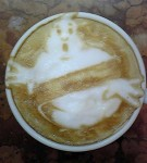 Ghostbusters Horror Latte Art by Kazuki Yamamoto via Riot Daily