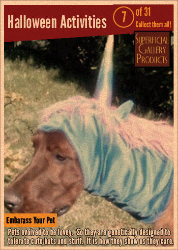 Halloween Activities Card 7 embarrass your pet
