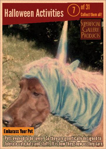 Halloween Activities Card 7 embarrass your pet
