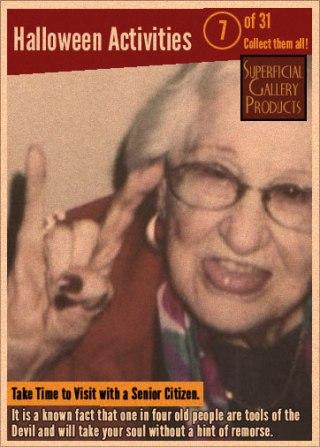 Halloween Activities Card 8 Visit a Senior Citizen