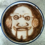 Jigsaw Latte Art, unknown artist, via Riot Daily and Barista Jam