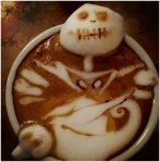 Nightmare Before Christmas Latte Art by Kazuki Yamamoto via WhoaThisisHeavy