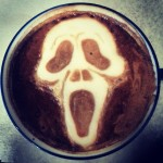 Scream latte art, unknown artist, via Riot Daily and Barista Jam