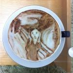 The Scream Latte Coffee Art by Kazuki Yamamoto via Riot Daily
