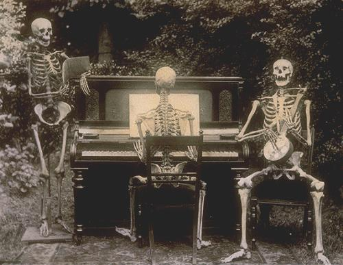 three skeletons at the piano 1893