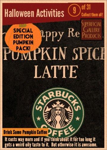 31 Halloween Activities 9 - Drink a Pumpkin Coffee