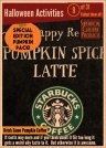 31 Halloween Activities 8 - Drink a Pumpkin Coffee