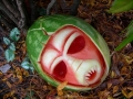 Alien Watermelon carving by Clive Cooper via www.sparksflydesign.com