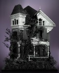 Lego Victorian Mansion with Spooky Tree by Mike Doyle