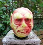Monster Watermelon carving by Clive Cooper via www.sparksflydesign.com