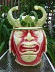 Samurai Watermelon carving by Clive Cooper via www.sparksflydesign.com