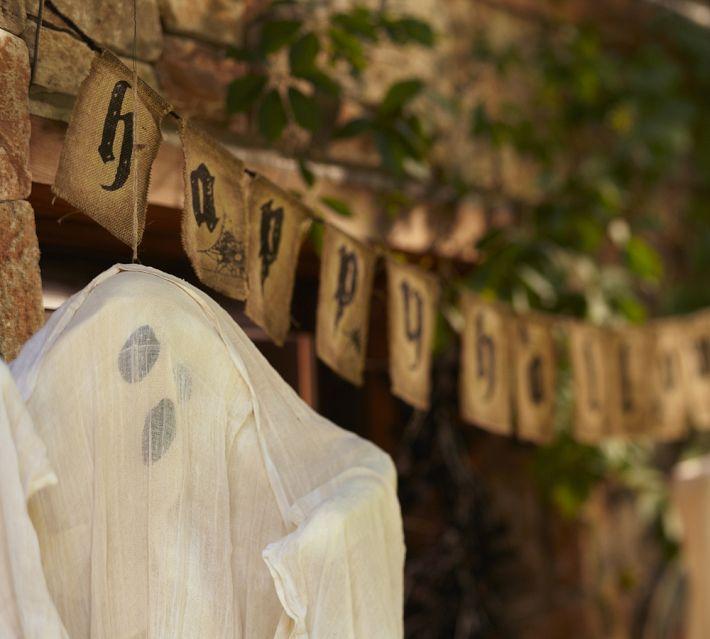 Pottery Barn Halloween 2014 Burlap Banner