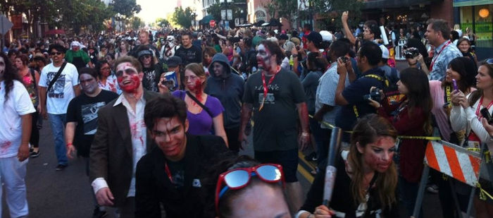 SDCC Comic Con Annual Zombie Walk via SD ZombieWalk FB Page