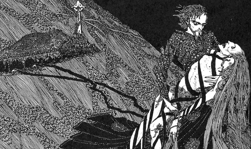 Detail, 1916 Illustration by Harry Clarke for Edgar Allan Poe's Berenice, from Tales of Mystery and Imagination