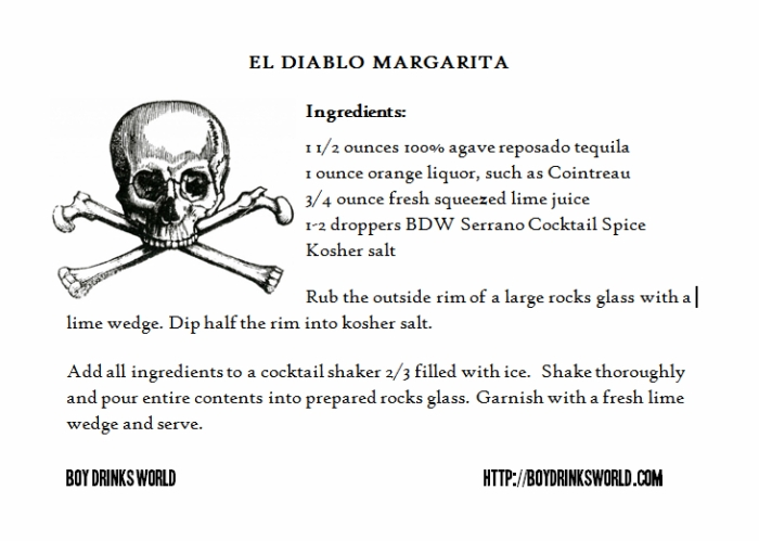 El Diablo Margarita by Boy Drinks World